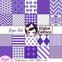 Hey, I found this really awesome Etsy listing at https://www.etsy.com/listing/168529321/purple-scrapbook-paper-pack-digital