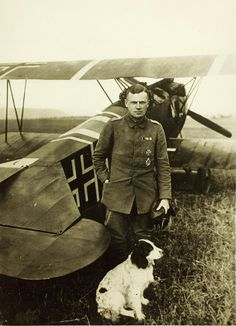 World War One German Aviator Oblt. Karl Bolle by San Diego Air & Space Museum Archives, via Flickr