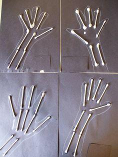 Xray art when looking at the human body The Human Body, Human Body Unit, Alphabet Crafts, Letter A Crafts, Preschool Letters, Preschool Crafts, Community Helpers Preschool, Dry Bones, Bone Crafts