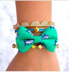Southern tide bow tie bracelet