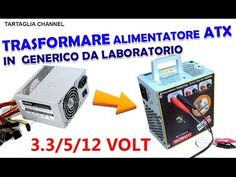 come trasformare alimentatore ATX per pc in generico - Tartaglia channel 3d Cnc, Electrical Engineering, Radio Control, Study Tips, Hobbies And Crafts, Arduino, Youtube, Channel, Survival