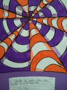 optical illusion art- did this with 4th graders on a perspective lesson.. cheap, easy, and they LOVED it! :)
