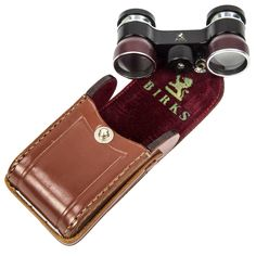 Art Deco BIRKS Theater Opera Glasses Binoculars Original Leather Case | From a unique collection of antique and modern desk accessories at https://www.1stdibs.com/furniture/decorative-objects/desk-accessories/