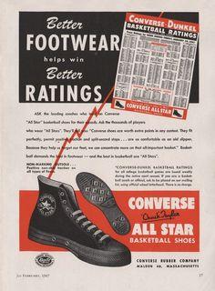983ffb5ccb1c Vintage converse ad 1964