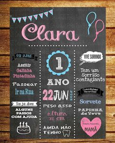 Chalkboard Aniversário / Quadro negro aniversário Chalkboard Designs, Chalkboard Art, Papaya Art, Moana Party, Painting Of Girl, Partying Hard, 1st Anniversary, E 10, You Are My Sunshine