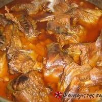 Κουνέλι σαλμί Greek Recipes, Meat Recipes, Recipies, Pot Roast, Chicken Wings, Sausage, Good Food, Pork, Beef
