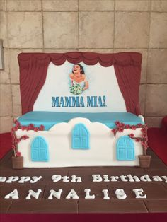 Musical theatre loving 9year olds Mamma Mia cake