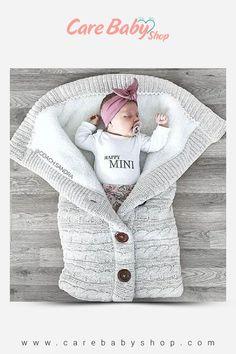 Baby Sleeping Bag Envelope Winter Kids Sleepsack Footmuff For Stroller Knitted Sleep Sack Newborn Swaddle Knit Wool Slaapzak – Hiking Pro Baby Sleeping Blanket, Toddler Sleeping Bag, Toddler Blanket, Best Baby Blankets, Baby Swaddle Blankets, Bunting Bag, Swaddle Wrap, Wearable Blanket, Crochet Bebe