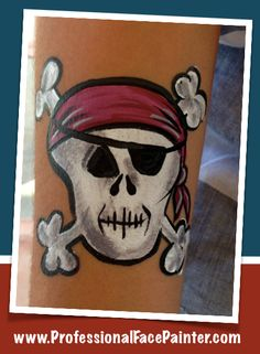 A pirate's life for me. Face Painting pirates, skulls, oh and little kids too! LOL! #OrangeCounty #Anaheim #OC #FacePaint