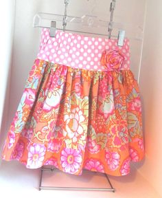 Girls skirt size 7 by saraannas on Etsy, $28.00