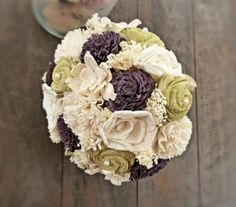 sola wedding bouquet (by Curious Crafts)
