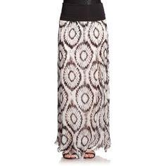 Marie France Van Damme Tie-Dye Silk Maxi Skirt