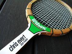 Vintage Tennis Racket Chris Evert Shot Maker Wood Racquet