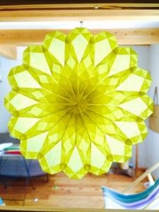 タンポポの折り方(ひかりとり紙/トランスパレント/折り紙) | うっとりがみ/おりがみサンキャッチャーを作ろう!
