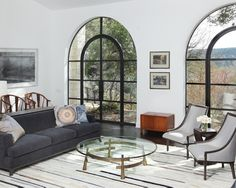 Arched Steel Windows