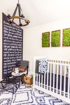 Check out former Bachelorette Desiree Hartsock and husband Chris Seigfried's baby boy's sweet nursery. Asher Wrigley's new room in Seattle was created with the help Diy Wand, Nursery Themes, Nursery Room, Kids Bedroom, White Nursery, Themed Nursery, Nursery Ideas, Nursery Decor, Room Decor