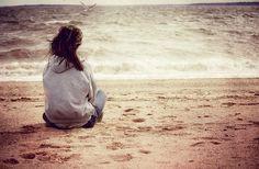 sitting seaside
