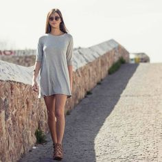 Short mini dress for casual outfit #MYSinspo