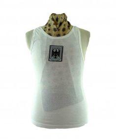 """90s White Bundeswehr Vest #vintagefashion #vintage #retro #vintageclothing #90s #1990s #vintagetshirts <link rel=""""canonical"""" href=""""http://www.blue17.co.uk/>"""