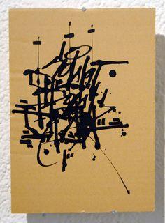 Cartonero 4   Indian ink on cardboard   21 x 29 cm