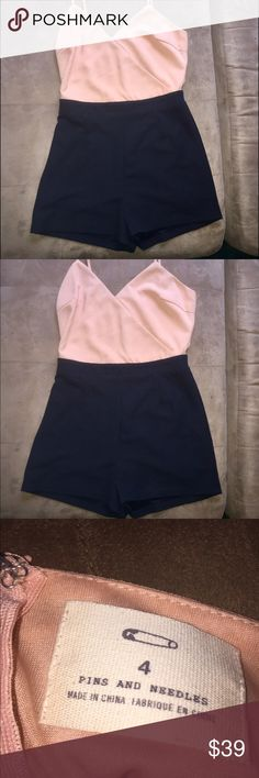 Pins & Needles romper *NWOT* New without tags Pins & Needles romper in size 4 in light pink and black Pins & Needles Other