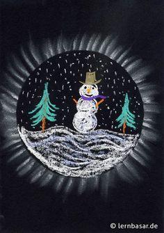Schneekugel - New Ideas Winter Crafts For Kids, Art For Kids, Fall Paper Crafts, Sunset Colors, Chalk Pastels, Winter Art, Art Plastique, Teaching Art, Christmas Art