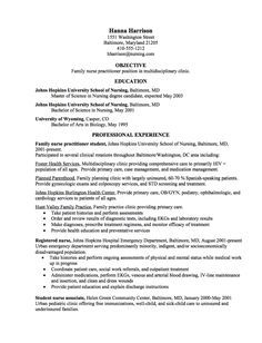Graduate Resume Samples Sample Resume For New Grad Nurse Nursing  Nurse Practitioner Sample Resume