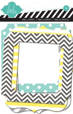 Heidi Swapp - Color Pop Collection - Resist Chipboard Window Frames at Scrapbook.com