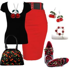 Cherry Bomb, created by nettiebaby on Polyvore