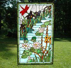 lotus, river, dragonfly