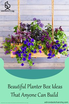 Beautiful Planter Box Ideas that anyone can build. #adirondackchair #planterbox #gardeningtips #garden #paperplanterbox #planter #planting #flower Adirondack Chair Plans Free, Planter Boxes, Planting, Gardening Tips, Yard, Patio, Building, Flowers, Accessories