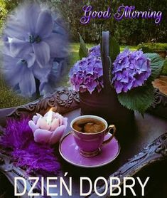 Dla każdego: DZIEŃ DOBRY Good Morning Thursday, Good Morning Greetings, Good Morning Wishes, Good Morning Quotes, Coffee Time, Table Decorations, Pictures, Facebook, Disney