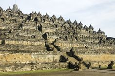 Borobudur, Java  Built in the ninth century, Borobudur is a Buddhist monument that was inhabited up until the fourteenth century, when it lay dormant until it was rediscovered in the early nineteenth century.