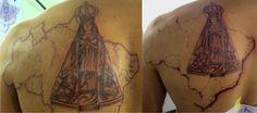 Tatuagem / Nossa Senhora Aparecida / Virgem Maria / Brasil / Religioso / Fé / PB / Costas / Tattoo / Our Lady Aparecida / Virgin Mary / Brazil / Religious / Faith / Black and Grey / Back #studio900 #crismaia