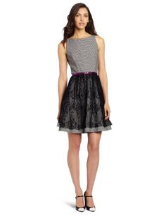 Jessica Simpson Women's Fit and Flare Dress, Black White, 8 Jessica Simpson http://www.amazon.com/dp/B0010VH272/ref=cm_sw_r_pi_dp_RBazwb1E9XEZW