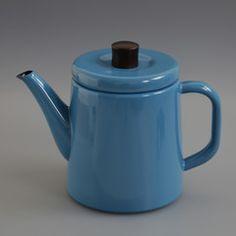 Japanese Enamel Teapot Blue