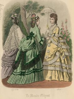 1870s Fashion, Ol Fashion, Edwardian Fashion, Fashion History, Vintage Fashion, Victorian Gown, Victorian Costume, Steampunk Costume, Historical Costume