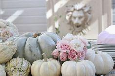 pumpkin and floral centerpieces