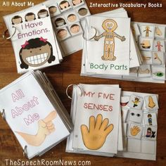 Interactive Vocab Books: All About Me & Fall from Speech Room News. Repinned by SOS Inc. Resources. Follow all our boards at pinterest.com/sostherapy/ for therapy resources.