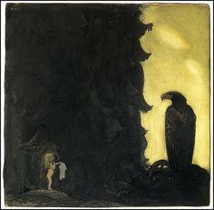 John Bauer - Nordic Myth and Fairytale Art and Illustration John Bauer, Troll, Fairytale Art, Faeries, Illustrators, Folk Art, Fantasy Art, Fairy Tales, Illustration Art
