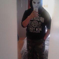 On instagram by gokusakurai #gabber #gabbermadness (o) http://ift.tt/1QWvtOf regel iemand is followers voor mij? dan ben je lief fso. danku. #hard #core #hardcore #metal #mongool #hashtag #fame #masked #camo
