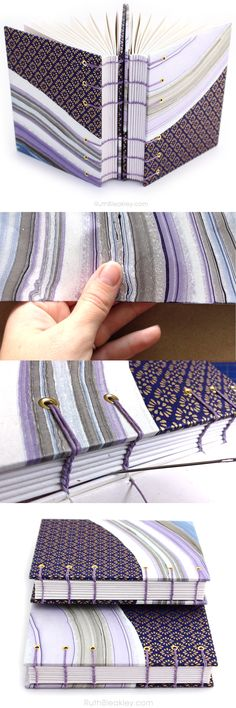 This pair of matching handmade purple journals would be the perfect gift for best friends, twins, or sisters