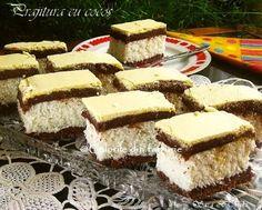» Prajitura cu cocosCulorile din Farfurie Tiramisu, Tasty, Ethnic Recipes, Desserts, Food, Sweets, Healthy, Tailgate Desserts, Deserts