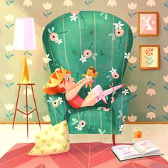 Cosy Place to Dream! - Illustrator Monique Dong