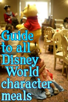 Guide to all Disney World character meals - including pros, cons, characters, prices and tips for each -- I will need this for my next trip!