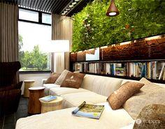Mur végétal apportant une verdure rafraichissante