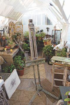 Senior royal academician olwyn bowey works in her garden studio in sussex. Garden Studio, Home Studio, Studio Spaces, Art Journal Inspiration, Watercolor Landscape, Creative Studio, Art Studios, Home Art, Original Art