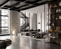 Gravity Home — New York loft (3D)   design by Andrew Sadokha...
