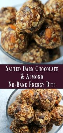 Kashi Copycat Salted Dark Chocolate and Almond No-bake energy bite. Healthy make-ahead snack recipe http://healthyquickly.com