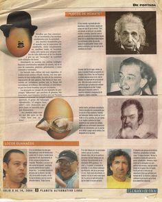 """Cada cabeza es un loco, articulo de """"El diario de hoy""""."""